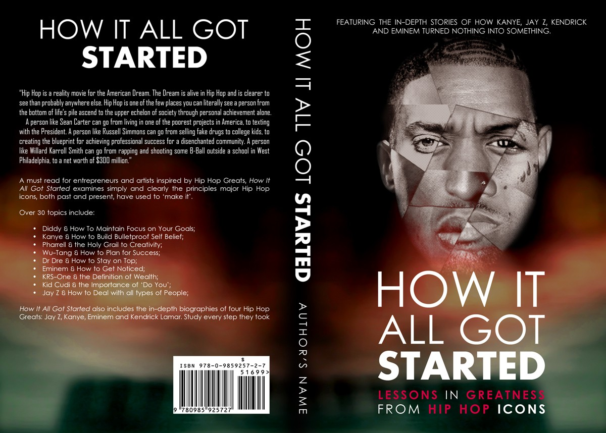 Create Cover for Book on Hip Hop Greats