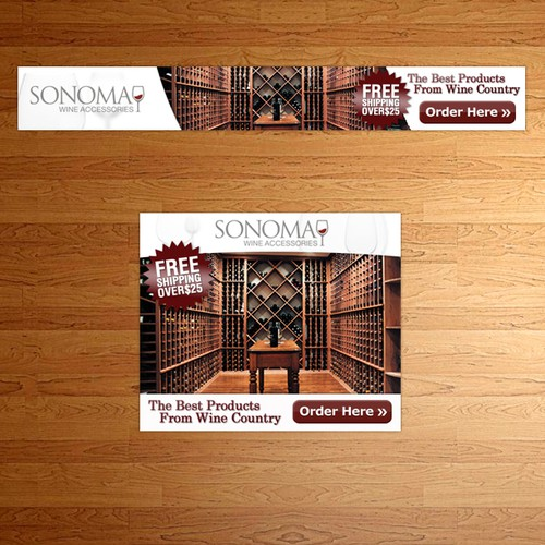 Sonoma Wine Accessories needs a new banner ad