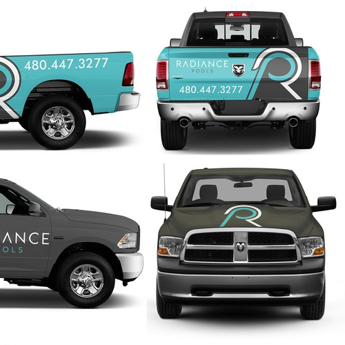 Modern Truck design for modern pool company
