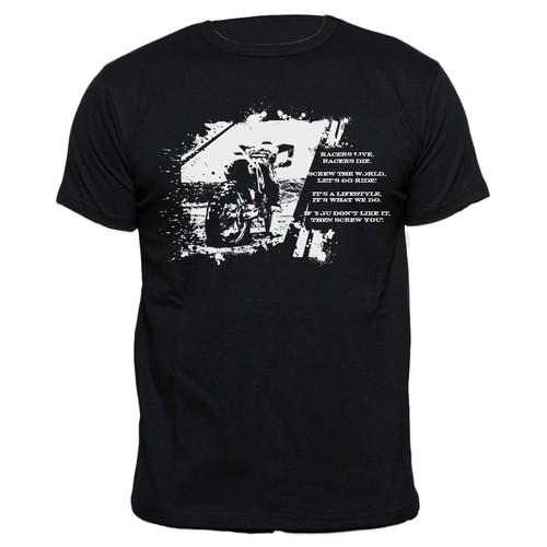 Create a professional Motocross/Dirt Bike t-shirt design.