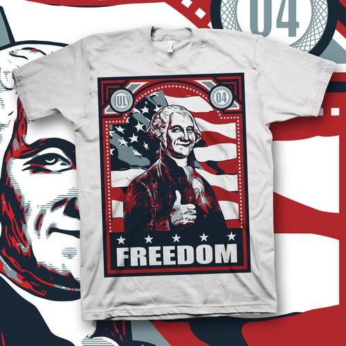 Create a USA July 4th patriotic tee!