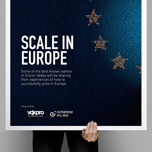 "Create a capturing poster to reflect ""Scale in Europe""."