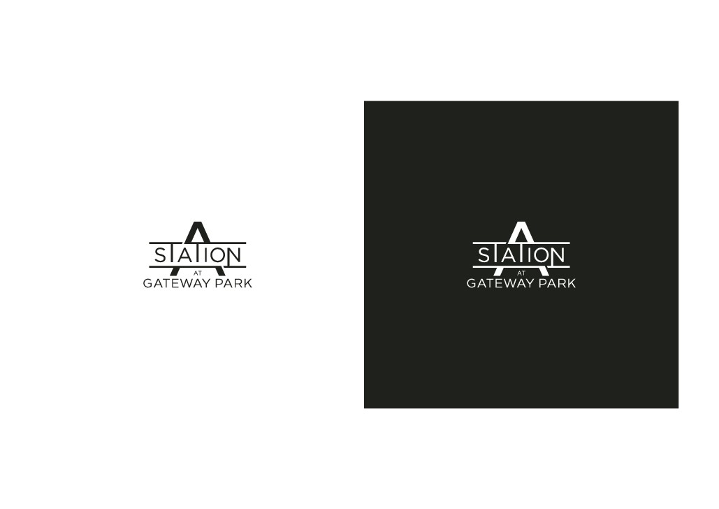 Modern logo design for new residential community in Northeast Denver, CO