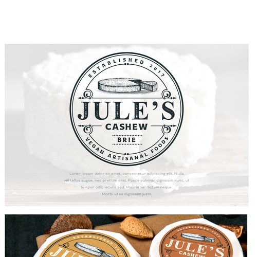 Logo Design for Jule's Cashew Brie