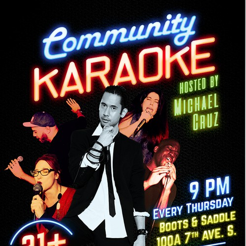 Poster design for Community Karaoke