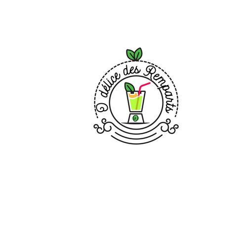 concept de logo audacieux pour un bar à jus