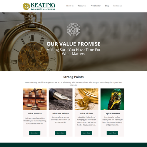 Web Design for Investment Company