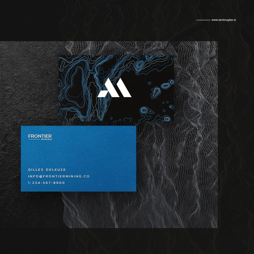 Business card for Frontier Mining