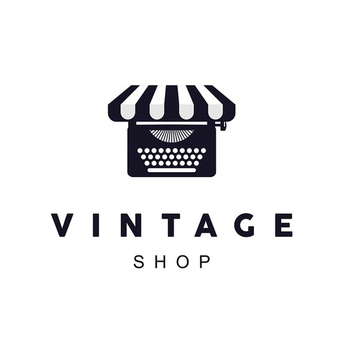 Logo for a vintage shop