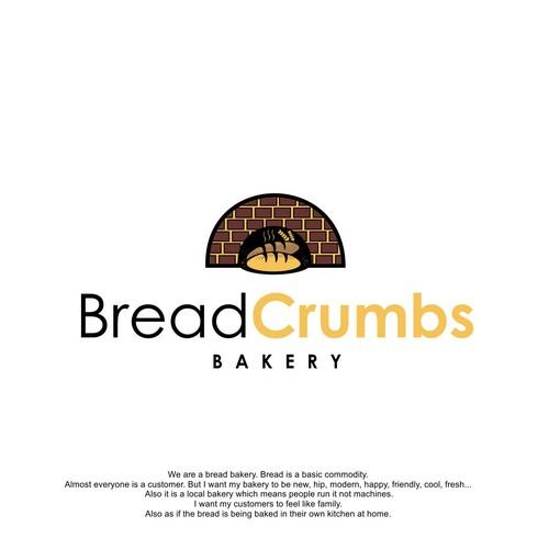 bread crumb logo bakery