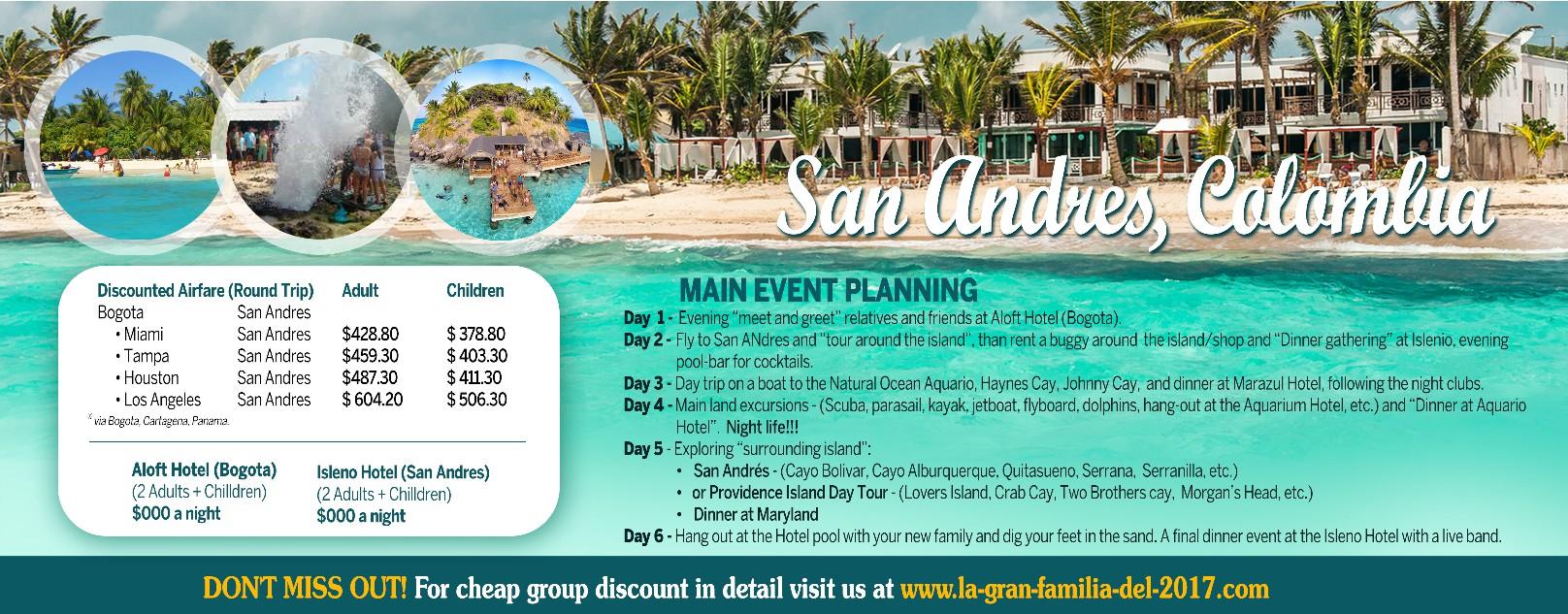 """Need a new postcard - """"La Gran Familia Del 2017""""  - Island Adventure"""