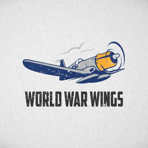 vintage style plane logo