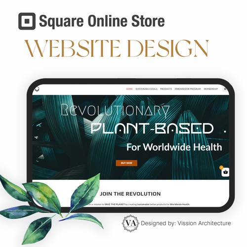 SQUARE ONLINE STORE | Design for Organic Vision