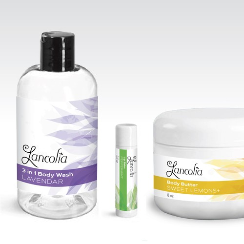 Label design for the skin care product line