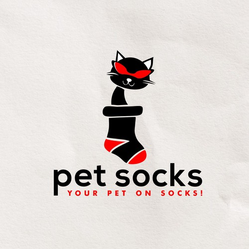 Fun and eyecatching logo for Petsocks  - your pet on sock