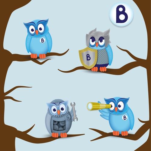 Owl Mascot Design Concepts