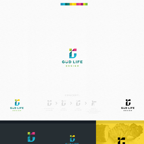 Vibrant logo design for Güd Life Design