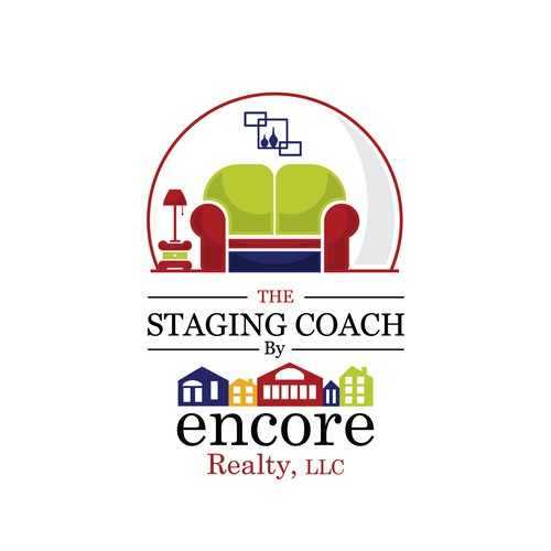 Design a logo for our trailer for staging furnishings for our real estate company