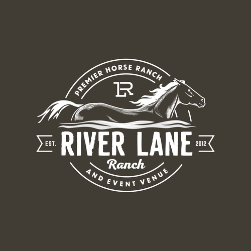 Logo concept for horse farm