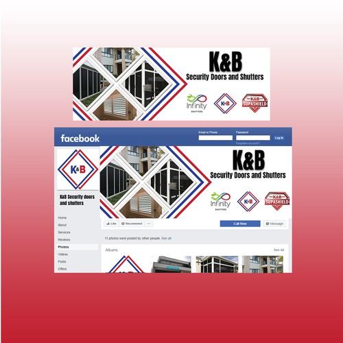 Facebook banner design for security door company