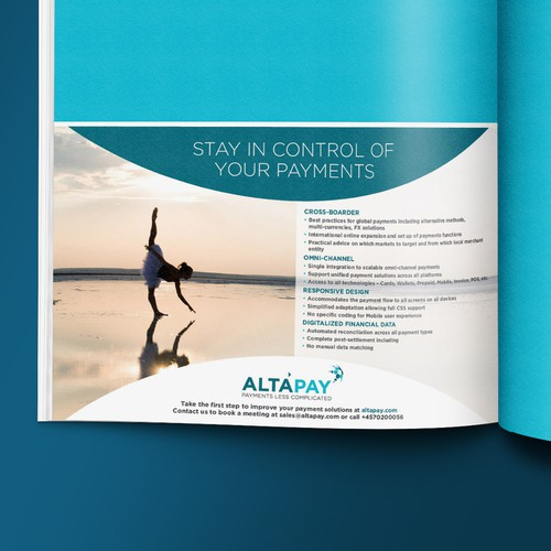 Half Page Print Ad for IT/Payment Management Company