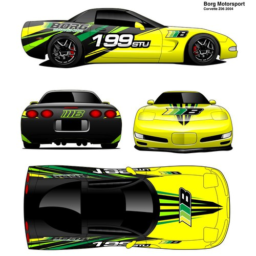 Livery Design For Borg Motorsport