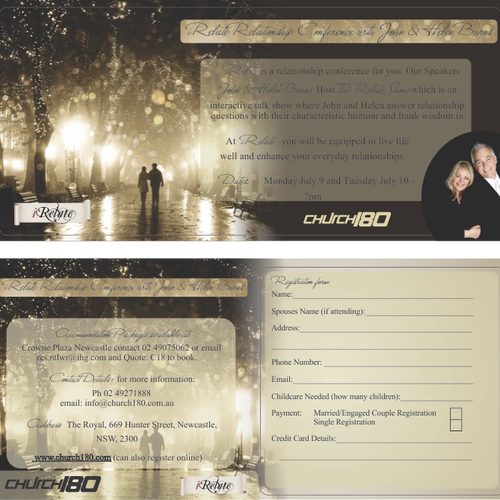 Church180 needs a new postcard or flyer