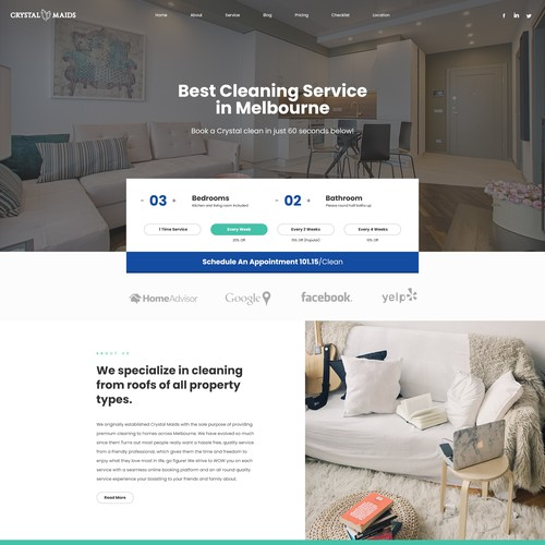 Cleaning Service user interface and experience (UI/UX)