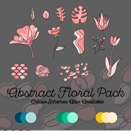 Abstract Floral Vector package.