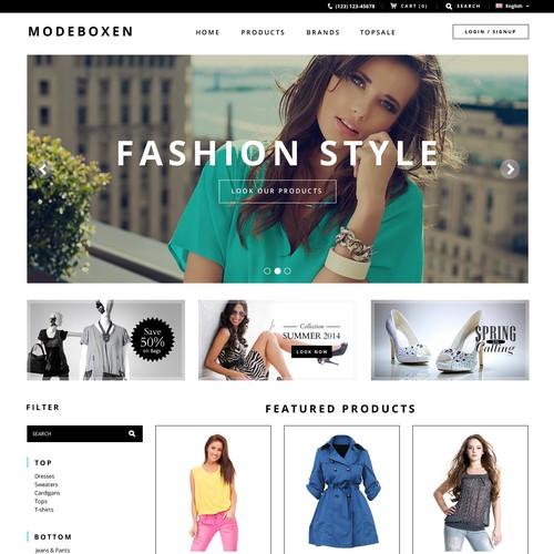 Fashion clothing page e-commerce