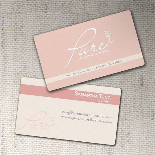 Business Card wanted for Pure. Natural Luxuries