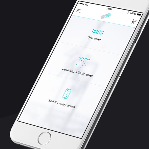 E-Commerce Beverage iOS App - White Version