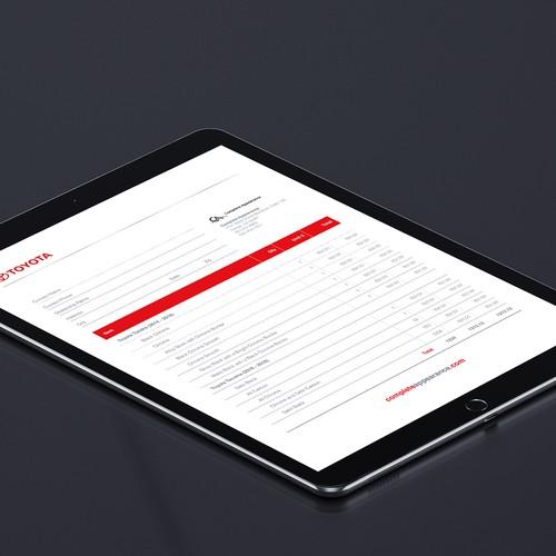 PDF - Fillable Form/Invoice