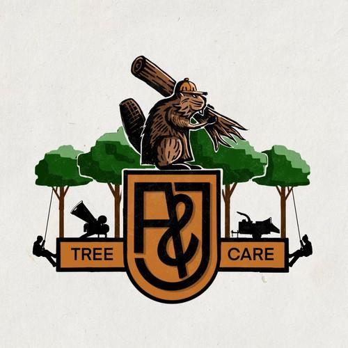 Logo Design for A&J Tree Care