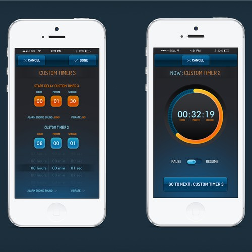UI Design for Timer App