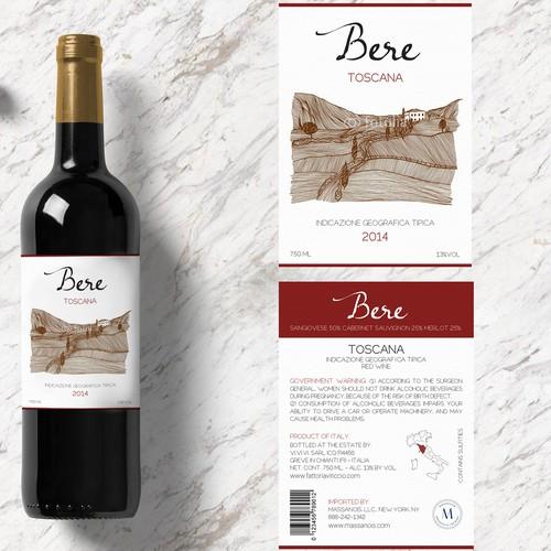 """""""Bere"""" Wine Label"""