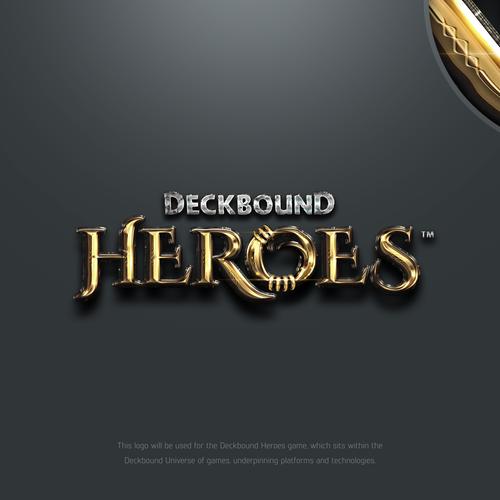 DeckBound Heroes Game Logo