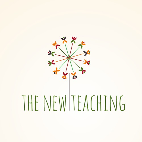Design a logo and a business card for The New Teaching