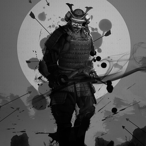 Japanese Samurai illustration to represent modern day bodyguards