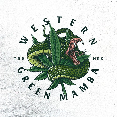Unused logo for Western Green Mamba