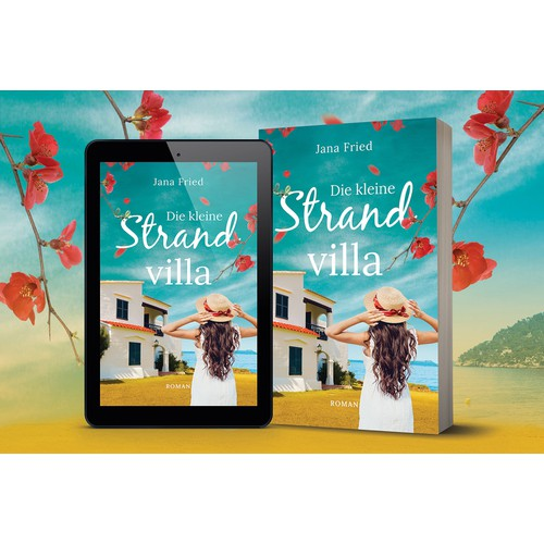 "Book Cover Design for German novel ""Die kleine Strandvilla"""