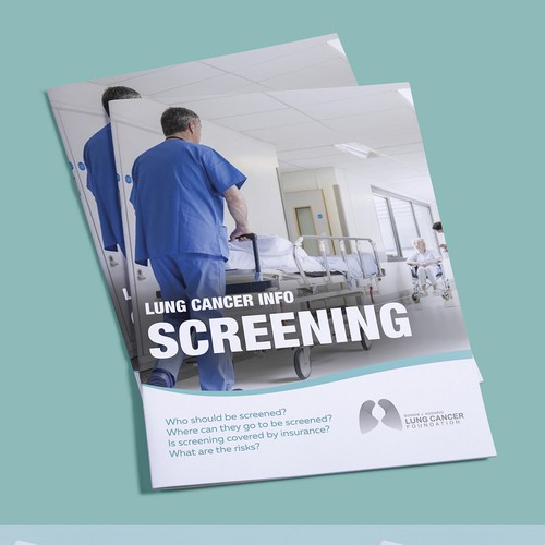 Brochure Template for Nonprofit Lung Cancer Community