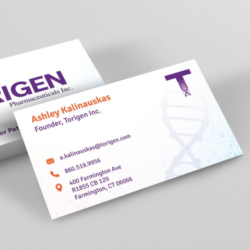 Business Card Design For a Pharmaceuticals Company