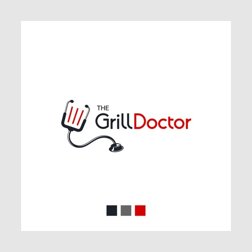 Logo for a grill kitchenware shop