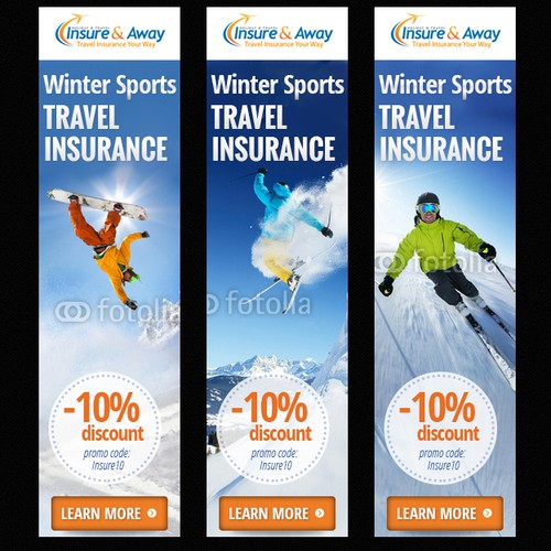 Winter sports Banner Ad for Insure & Away