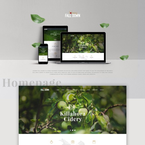 Cidery website design