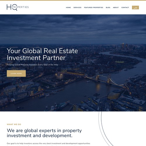 HQ Properties | Website and Branding for a Real Estate Company