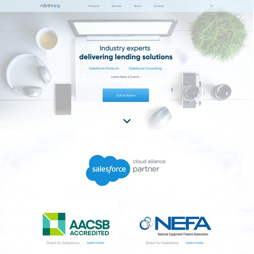Landing page for northteq company