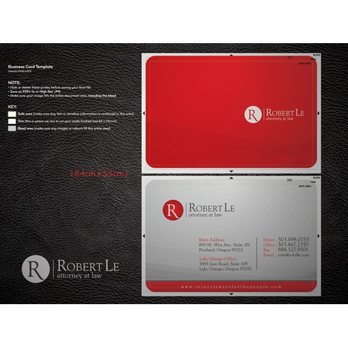 Help Robert Le Attorney with a new stationery