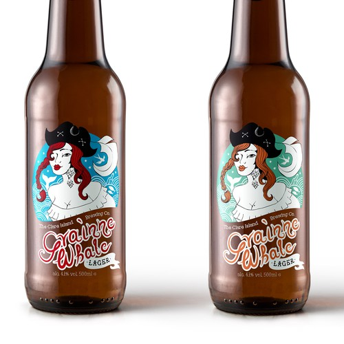 Label desing for a beer from Irish island